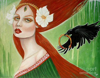 Tuatha Painting - Deirdre Of The Sorrows by Tammy Mae Moon