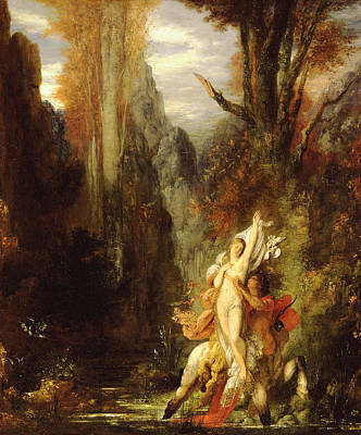 Abducted Painting - Dejanira  Autumn by Gustave Moreau