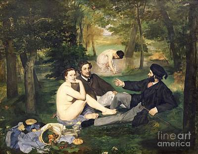 Bread Painting - Dejeuner Sur L Herbe by Edouard Manet