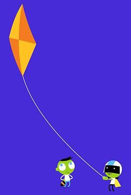 Kite Digital Art - Del And Dee Kite by Pbs Kids