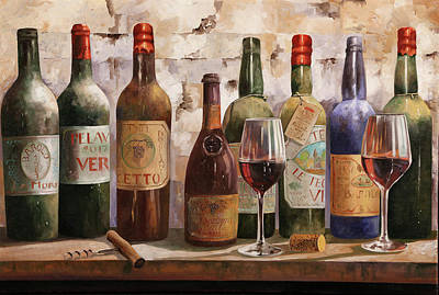 Painting Rights Managed Images - Del Buon Vino Royalty-Free Image by Guido Borelli