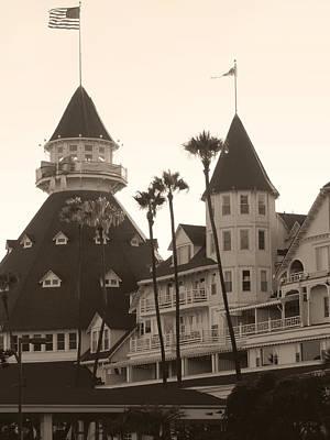 Photograph - Del Coronado, Monochrome by Gordon Beck