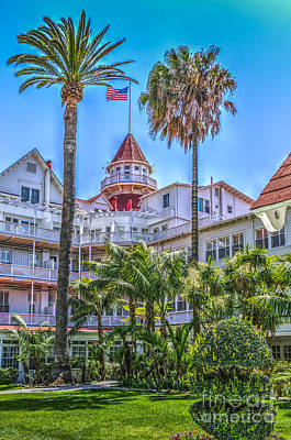 Photograph - Del Coronado Victorian Hotel Tower by David Zanzinger