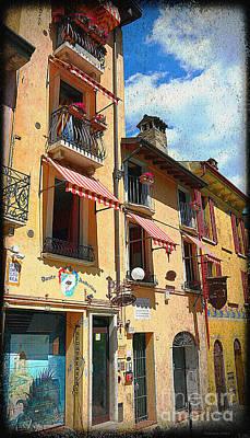Photograph - Del Garda Lake Italian Street  by Ramona Matei