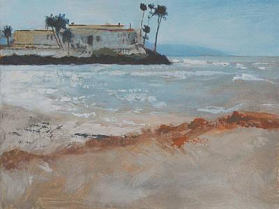 Del Mar Beach Art Print by Robert Bissett
