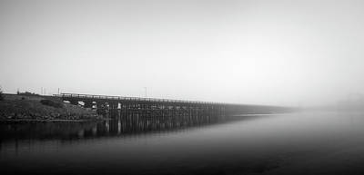 Photograph - Del Mar Railroad Bridge by William Dunigan