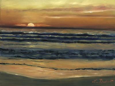 Del Mar Wall Art - Painting - Del Mar Sunset by Lisa Reinhardt
