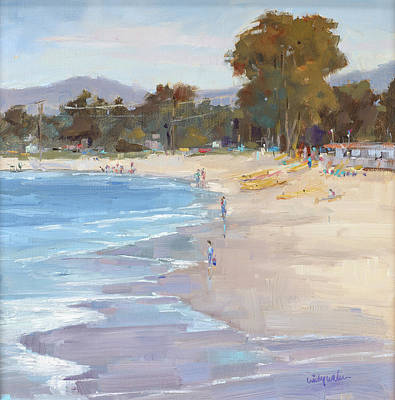 Monterey Wharf Painting - Del Monte Shores by Cindy Wilbur