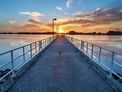Photograph - Del Norte Pier Autumn Sunset by Greg Nyquist