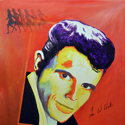Painting - Del Shannon by Lee Wolf Winter