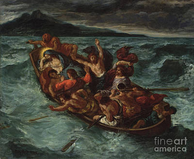 Painting - Delacroix Christ Asleep by Granger
