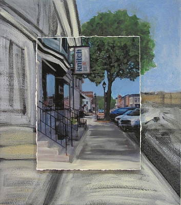 Mixed Media - Delafield Knitch Shop Layered by Anita Burgermeister