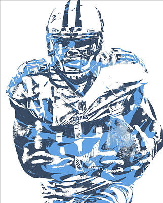 Mixed Media - Delanie Walker Tennessee Titans Pixel Art 10 by Joe Hamilton