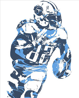 Mixed Media - Delanie Walker Tennessee Titans Pixel Art 11 by Joe Hamilton