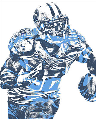 Mixed Media - Delanie Walker Tennessee Titans Pixel Art 12 by Joe Hamilton