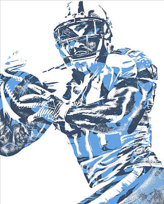 Mixed Media - Delanie Walker Tennessee Titans Pixel Art 14 by Joe Hamilton