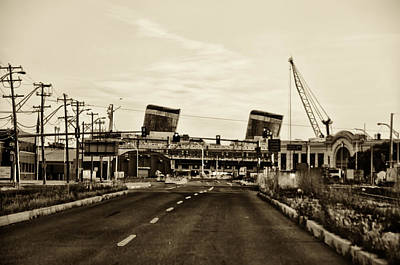 Liner Digital Art - Delaware Avenue - Ss United States by Bill Cannon