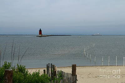 Photograph - Delaware Breakwater East End Light Beach View by Christiane Schulze Art And Photography