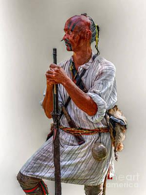 Delaware Indian Warrior Portrait 1763 Art Print by Randy Steele