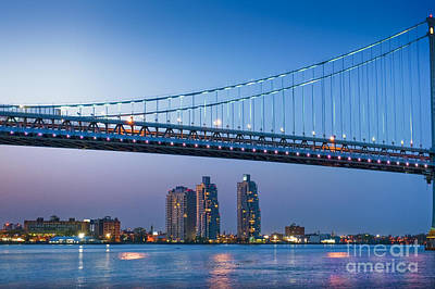 Photograph - Delaware River Ben Franklin Bridge by David Zanzinger