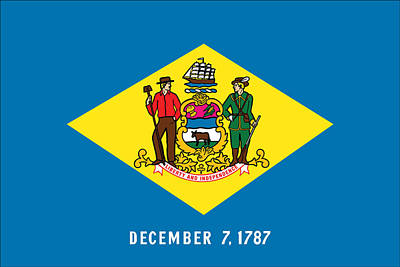 Photograph - Delaware State Flag by Robert Banach