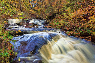 Awesome Photograph - Delaware Waterfall And Rapids by Marcia Colelli