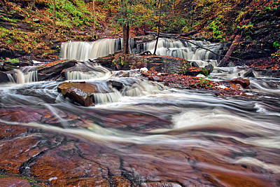 Lovely Photograph - Delaware Waterfalls by Marcia Colelli