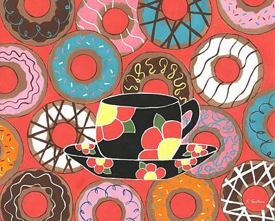 Painting - Delectable Donuts by Kathleen Sartoris