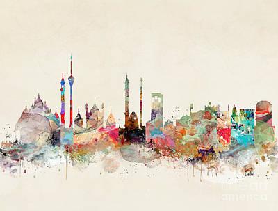 Painting - Delhi City Skyline by Bleu Bri