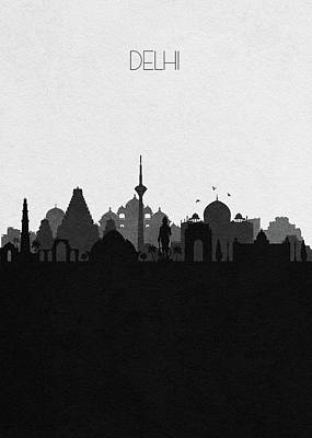 Mixed Media - Delhi Cityscape Art by Inspirowl Design