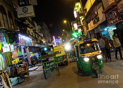 Tuk Tuk Photograph - Delhi Nights  by Rob Hawkins