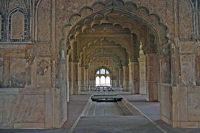 Photograph - Delhi Red Fort Arches by Tony Brown