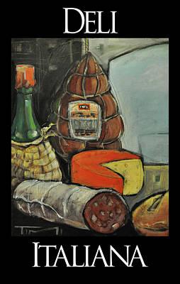 Deli Italiana Meat And Cheese Art Print by Tim Nyberg