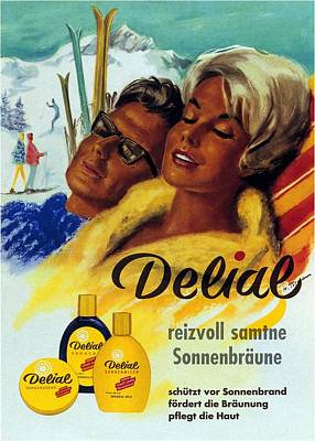 Mixed Media - Delial - Germany - Vintage Cream Advertising Poster by Studio Grafiikka