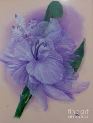 Art Print featuring the painting Delicacy by Saundra Johnson