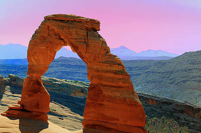 Photograph - Delicate Arch  --  Arches National Park by Brian Hoover