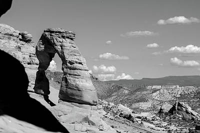 Photograph - Delicate Arch - Arches National Park - Black And White by Gregory Ballos