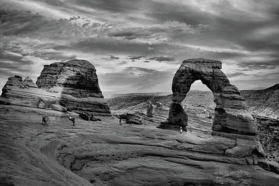 Photograph - Delicate Arch At Sunset - Black And White by Gregory Ballos