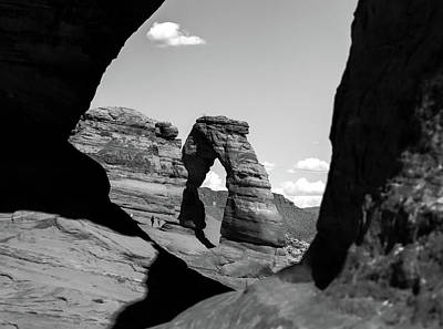 Photograph - Delicate Arch - Black And White - Arches National Park by Gregory Ballos