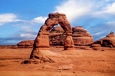 Photograph - Delicate Arch From Lower Viewpoint by TL Mair