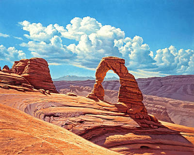 Canyons Painting - Delicate Arch by Paul Krapf