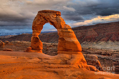 Photograph - Delicate Arch Sunset Landscape by Adam Jewell