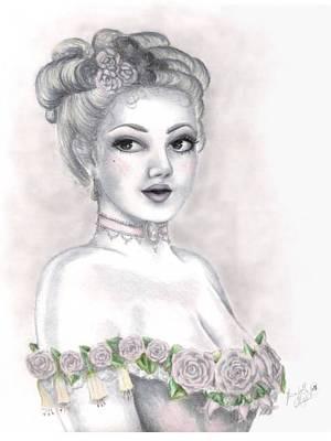 Delicate Beauty Art Print by Scarlett Royal