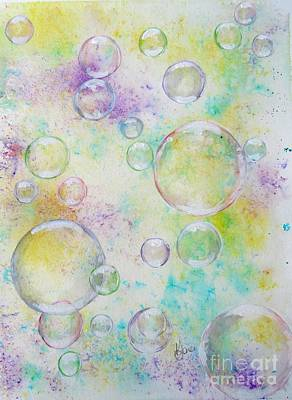 Mixed Media - Delicate Bubbles by Karen Jane Jones