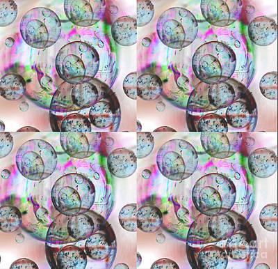 Digital Art - Delicate Bubbles by Nareeta Martin