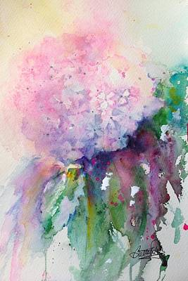 Painting - Delicate Hydrangea by Bette Orr