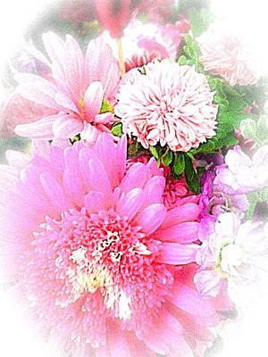 Photograph - Delicate Pink Petals  by Ellen Levinson
