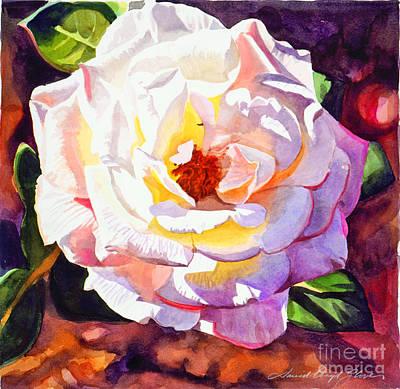 Delicate Princess Rose Art Print by David Lloyd Glover
