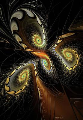 Apophysis Mixed Media - Delicate Spirals Of Lace by Deborah Benoit