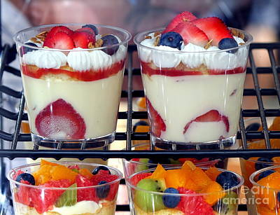 Photograph - Delicious Dessert With Fresh Fruit by Yali Shi